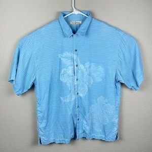Tommy Bahama men's Hawaiian Aloha shirt, XL, Blue